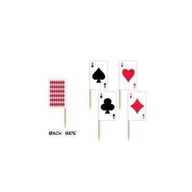 Casino thema cocktailprikkers 50x
