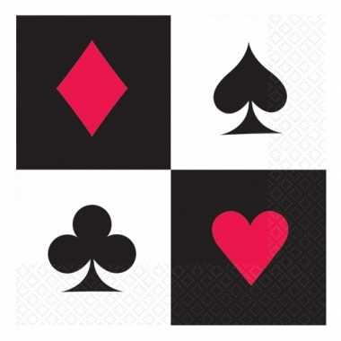 Casino thema servetten 16x