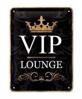 Muurdecoratie vip lounge bordje 15 x 20 cm